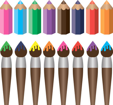 Brushes and pencils Stock Vector - 15789167