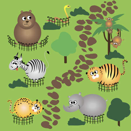 animals in zoo Stock Vector - 15789169