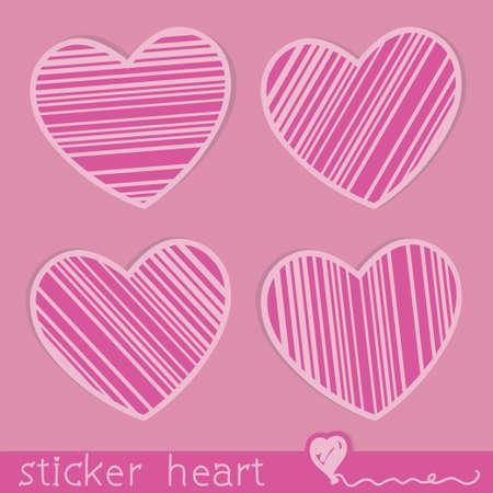 heart stickers Stock Vector - 16789262
