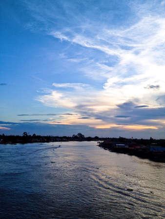 nonthaburi: Evening sky at Pakkred Nonthaburi