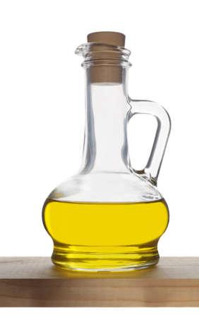 Bottle of olive oil isolated on white background.Studio shot. Banco de Imagens