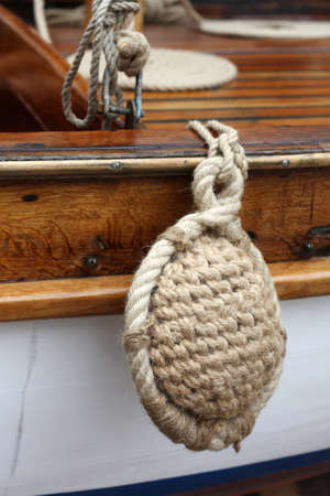 Rigs and rope on the boat.