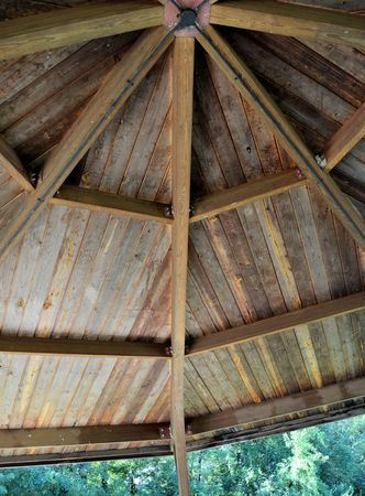 Octagon ceiling in park shelter