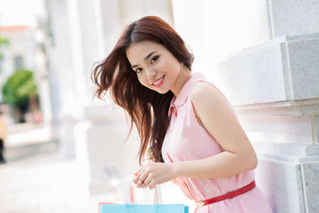 Portrait of a young girl at the store Stock Photo