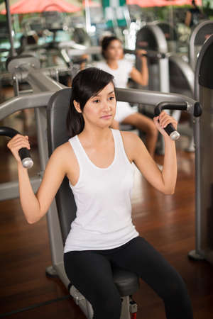 concentrated: Portrait of a concentrated sportswoman in the gym