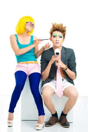 Couple of young freaks