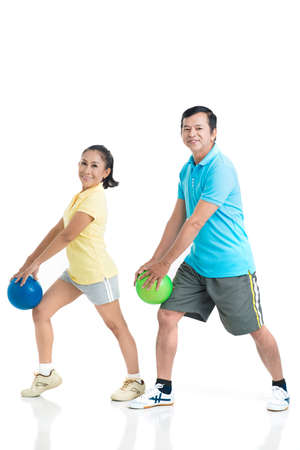 Senior people having sports trainings Stock Photo