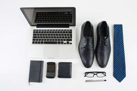Close-up of male necessary things for businessman