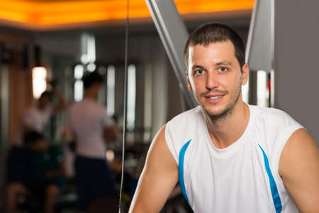 Portrait of a smiling man in gym