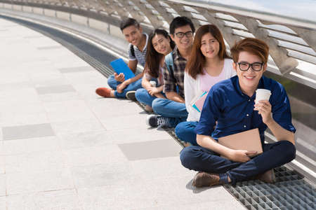 schoolmate: Students sitting in row