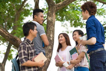 schoolmate: College students Stock Photo
