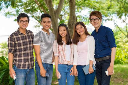 schoolmate: Happy students Stock Photo