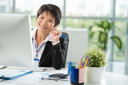 executive assistants: Asian business lady at work