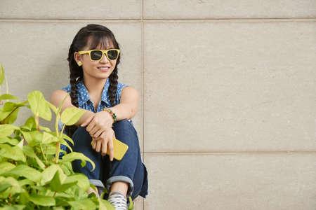 girls youth: Cheerful girl