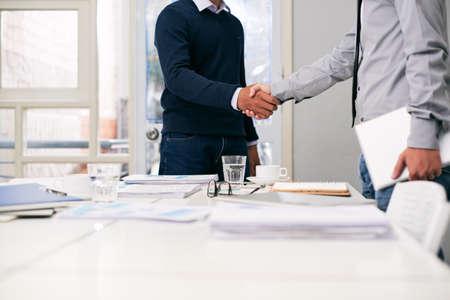 Greeting business partner Stock Photo