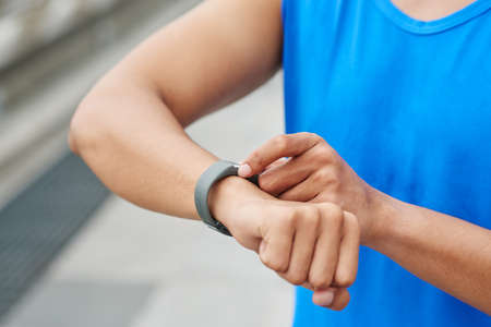 Monitoring fitness progress after morning run
