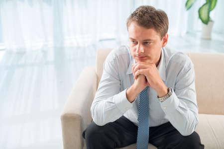 psychologists: Closeup of a young pensive psychologist?s patient