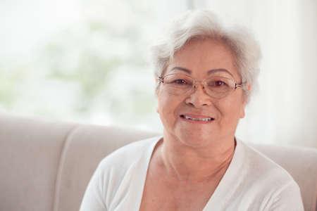 Portrait of Vietnamese senior woman