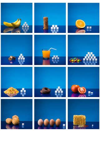 azucar: Tabla que muestra cantidad de azúcar en diferentes productos