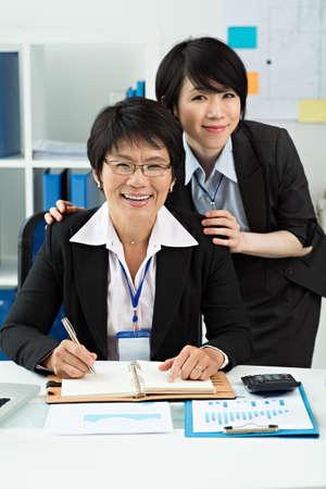 vigorous: Portrait of two vigorous female colleagues Stock Photo