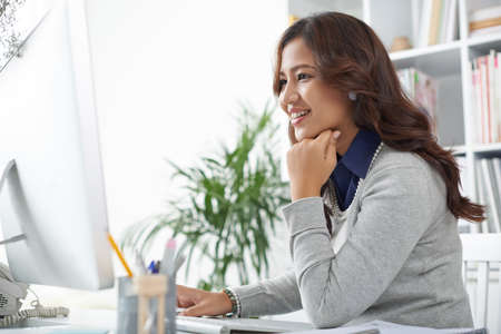 Female business executive working in the office Stock Photo
