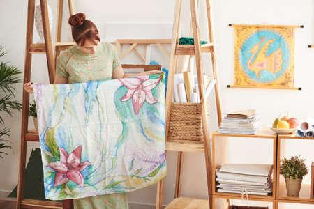Batik on silk Stock fotó
