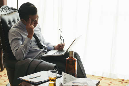 tired businessman: Hangover