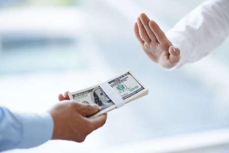 Businessman refuses to take bribe