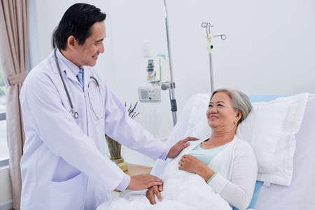 De patiënt geruststellen Stockfoto