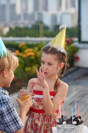 Kids Enjoying Outdoor Birthday Party