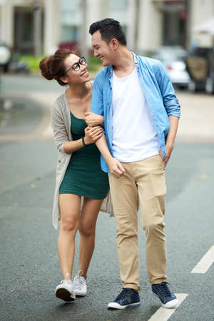 Young Asian Couple on Date Banco de Imagens