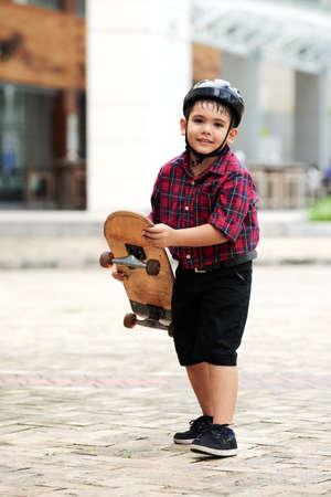 Ready to skateboard