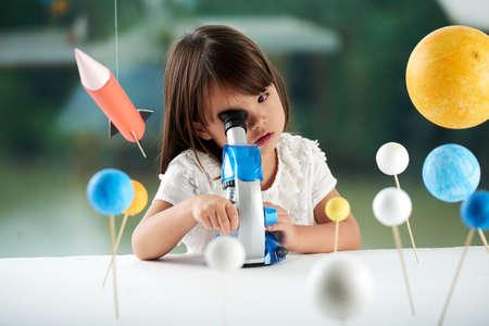 Portrait of Curious Little Scientist