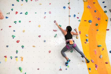訓練を登山 写真素材