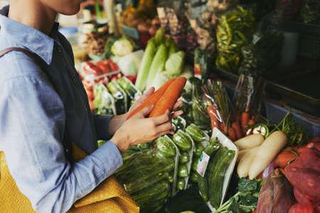 buying: Buying vegetables Stock Photo
