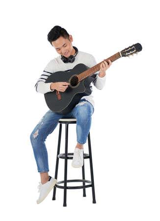 playing guitar Stockfoto