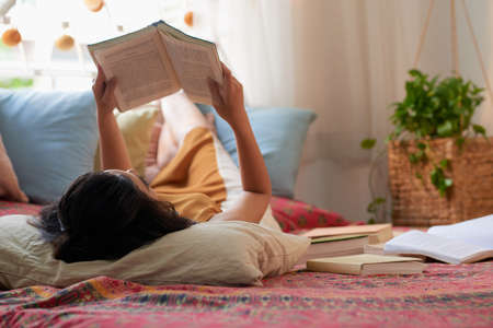 Resting with book