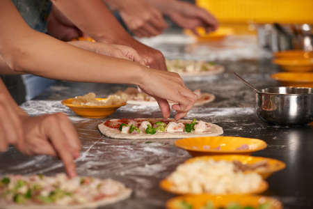 Processus de fabrication de pizza