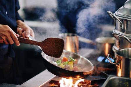 Making vegetarian dish