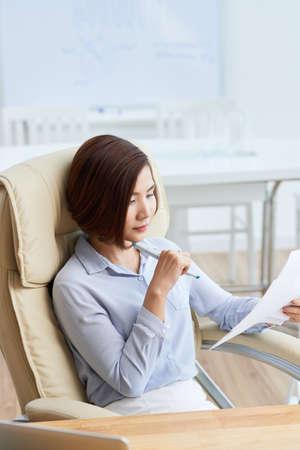 Analyzing business document