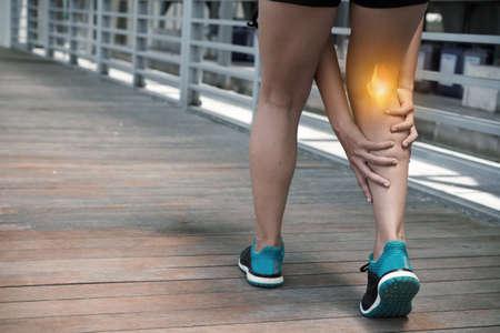 Hamstring pain Фото со стока