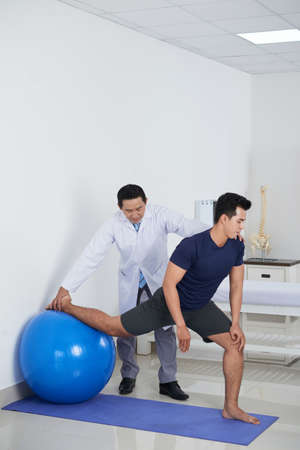 Exercising patient