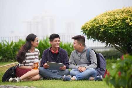 Preparing for Exam at Public Park