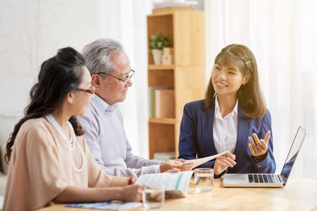 Health insurance manager Stock Photo