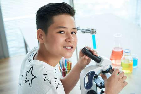 Portrait of Handsome Teenage Student