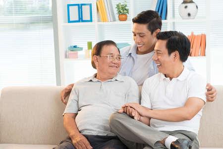 Three generation family Stockfoto