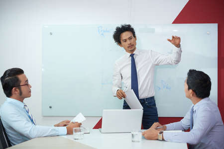 Presenting new strategy Stock Photo