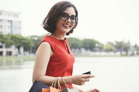 Walking beautiful woman