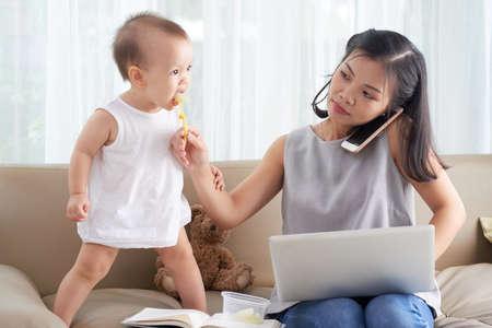 Mother freelancer