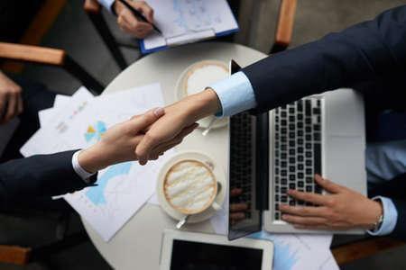 Agreement concept between two businessmen